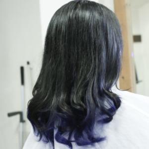 濃紺インナーカラー