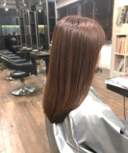 乾かすだけでOK!髪質改善ストレート