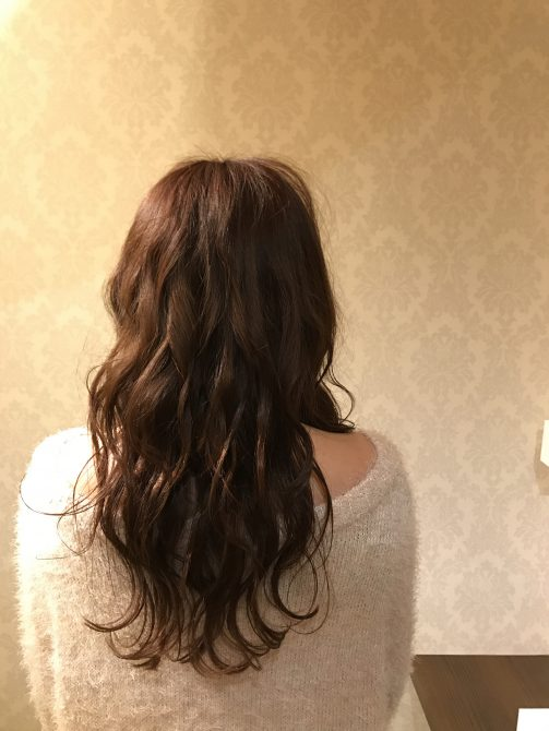 春の波巻きヘア
