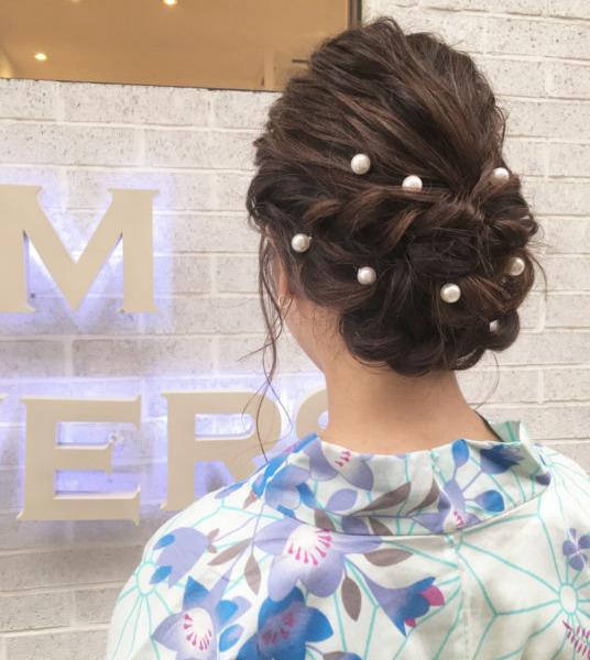 浴衣に合うヘアセット②