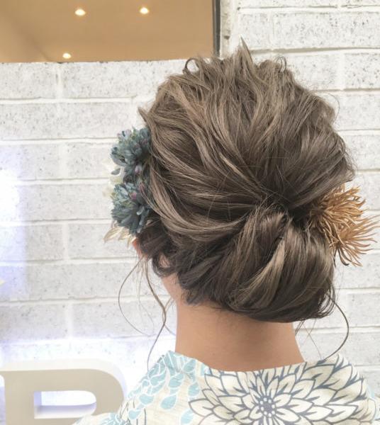 浴衣に合うヘアセット④